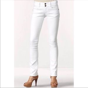 CAbi White Straight Leg Jeans